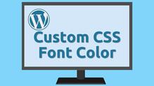 CSS Font Color