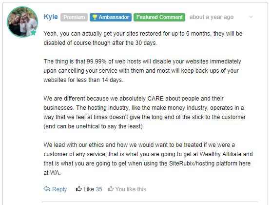 Kyle's comment