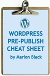 WordPress Pre-Publish Cheat Sheet