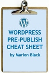 Pre-Publish Cheat Sheet