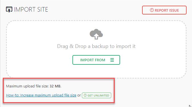 Maximum Upload File Size 32 MB