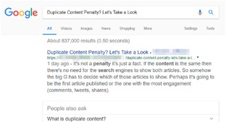 Duplicate Content Penalty Thumbnail