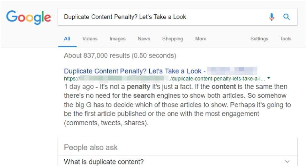 Duplicate Content Penalty Thumbnail