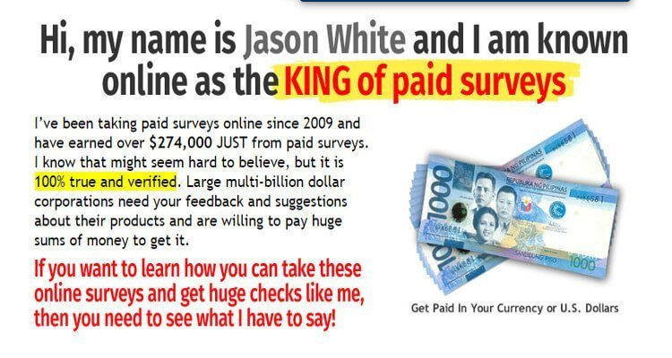 "Take Surveys for Cash; Jason White, ""King of Paid Surveys"""