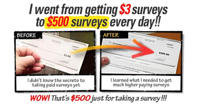 Take Surveys for Cash; Check