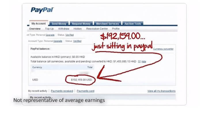 Explode My Payday; Meaghan Harper's Alleged Paypal Account Balance