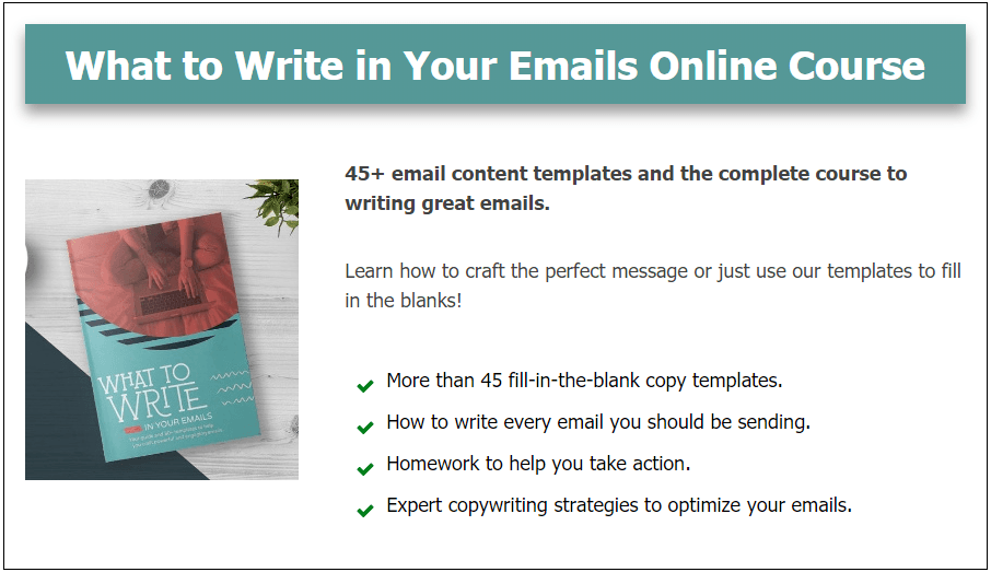 What to Write in Your Emails Online Course