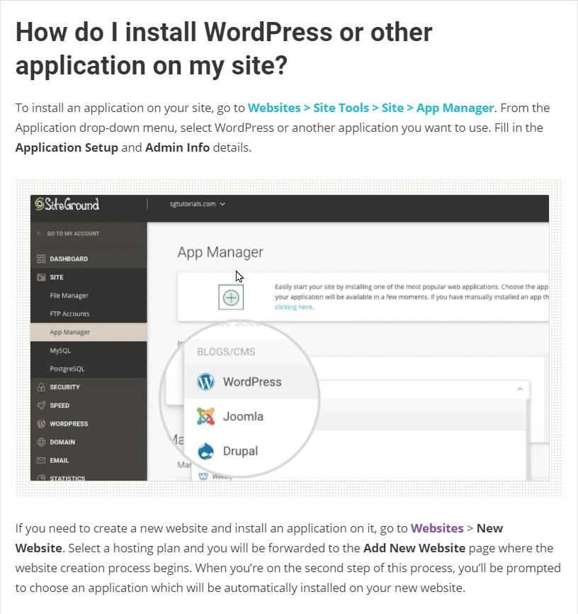 Install WordPress at SiteGround